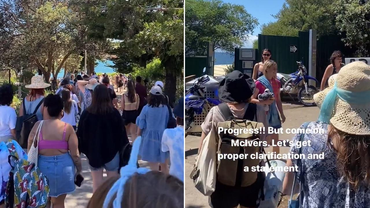 Protesters Held A Swim-In At The McIver's Ladies Baths Against Transphobic Entry Policies