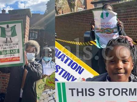 Pro-Buhari Counter Protesters in London Were Reportedly Paid £75 Each