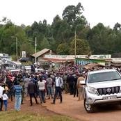 Images of President Uhuru in Nyeri Today Verses that of Ruto in Meru Last Week Lighting the Internet