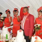 A wealthy man takes polygamy. Six women worth R700 000 married in one day