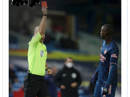 See how Arsenal's Nicolas Pepe was ridiculed on Twitter over his red card against Leeds.