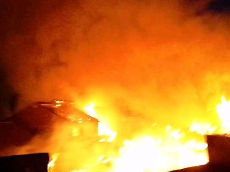 Man Injured at a Fire Breakout at Umoja Near Mutidwa Market.
