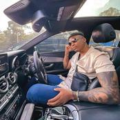 Photos of Otile Brown Having Good Moments Inside His Cool Expensive Car