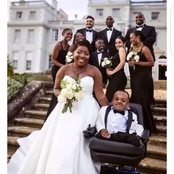 Could This Be True Love? See Photos Of A Beautiful Lady Who Married A Physically Challenged Man