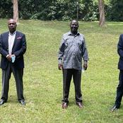New Political Twist As Raila Hosts Gideon And Muhoho Kenyatta at Karen Home