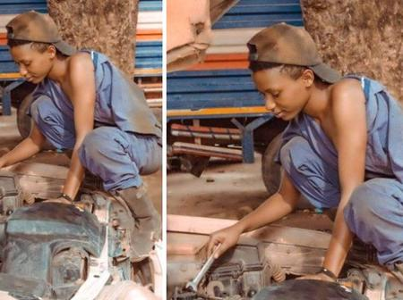 See Photos of what this lady is doing for a living in Katina state