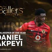 Daniel Akpeyi Wins Goalkeeper Of The Year Award.