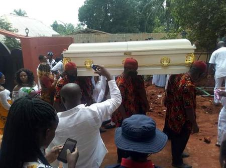 Look At How The Highlife Singer, Chief Emeka Morocco Maduka Was Laid To Rest