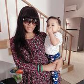 Check Out These Beautiful And Adorable Pictures Of Queen Nwokoye And Her Cute Daughter