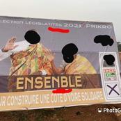 Découvrez l'affiche de campagne d'un candidat RHDP avec des fautes d'orthographe qui fait le buzz !