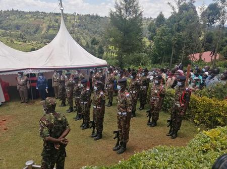 Emotions High as KDF Bury High Ranking Youthful Officer Who Worked at President's Delivery Unit