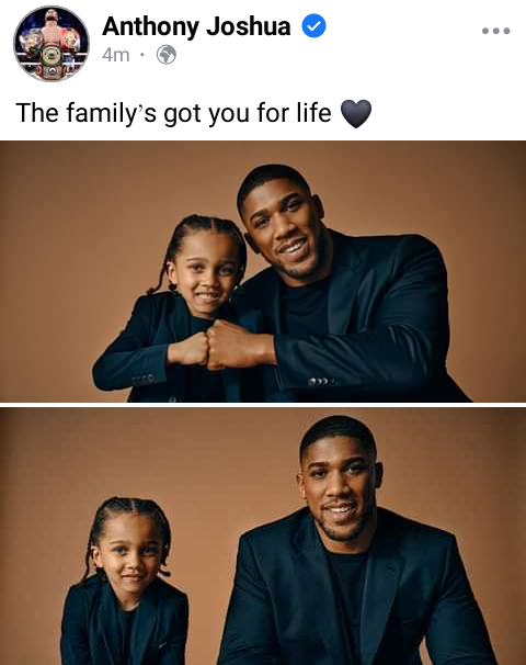 Anthony Joshua shares photos with his son to celebrate Father