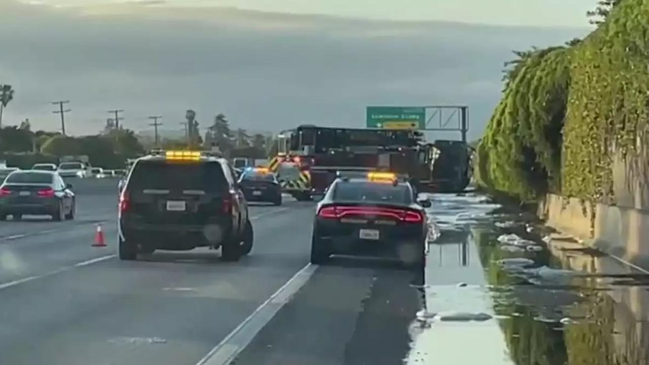 1 dead in fiery crash involving big rig hauling ammonia in Sutter County