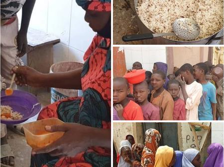 Kannywood Star Saratu Daso Provides Free Food For Almajiri beggars And Poor People