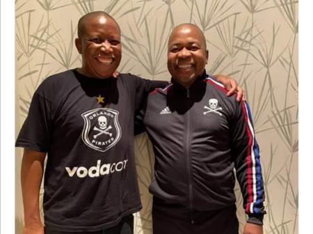 EFF CIC Julius Malema is an Orlando Pirates supporter/fan. (see pictures)