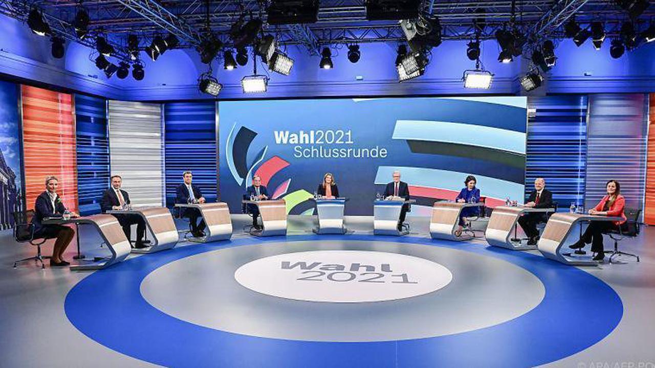 Letzte TV-Wahlkampfrunde: Streit um Verteidigung und Finanz