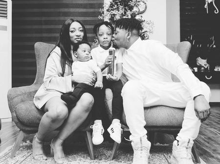 Olamide Baddo Shares Adorable Christmas Photos Of His Wife And Two Sons