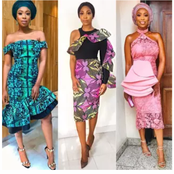 Checkout These Beautiful Short Lace Gown Styles For Trendy Ladies