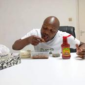 Kenyans React as  Comedian Jalango Shows his Meal