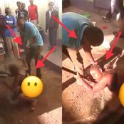 See What A Man Did To His Wife For Allegedly Cheating On Him, That Caused Reactions (Photos)