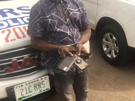 Thief who has stolen over 240 phones from Lagos commuters arrested while stealing Tecno Camon