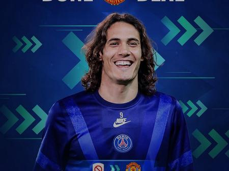 Cavani and 7 other footballers secure transfer deals on deadline; Manchester United signs 2 out of 8
