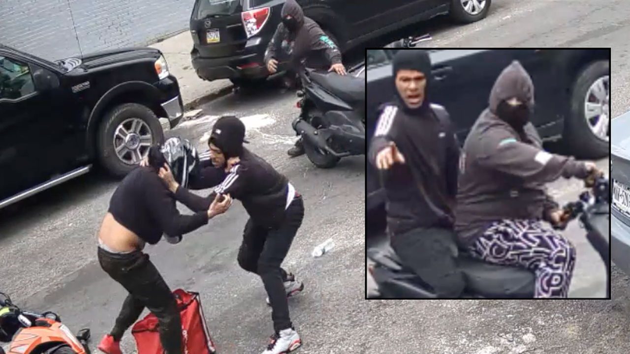 VIDEO: Would-be moped thieves spark brawl on Bronx street