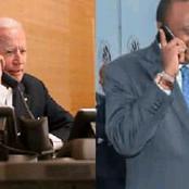 President Uhuru Kenyatta Officially Releases Details Of His Phone Call With US President Joe Biden
