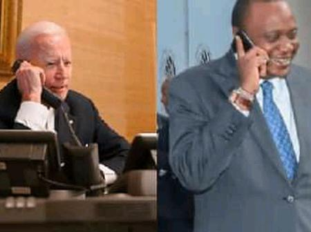 President Uhuru Kenyatta Officially Releases Details Of His Phone Call With US President Joe Biden