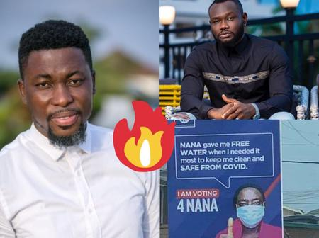 Free Water Brouhaha: Kwame A-Plus Finally Reacts To Prince David Osei's Statement About Akufo Addo