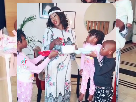 Checkout The Funny Video Mercy Johnson Did With Her Children, That Made People Laugh Online