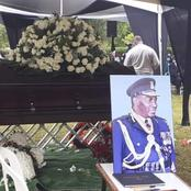 [Photos] Tears Flow As The Former Police Boss Is Laid To Rest In Nakuru