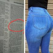 Bible Verse That Warns Women Against  Trousers