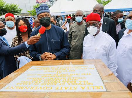 Governor Okowa Commissions Projects in Delta