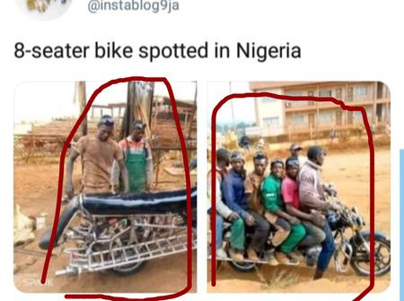 Reactions after 8-seater bike was spotted in Nigeria