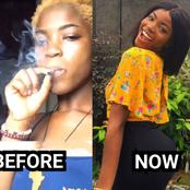 Check The Past And Recent Pictures Of This Lady After She Stopped Smoking And Embraced Christianity