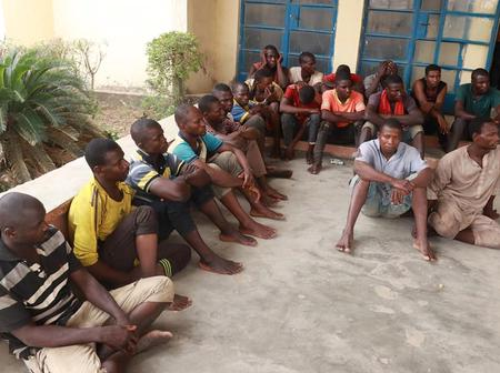 PHOTOS: How 19 men were arrested with materials stolen from rail tracks and kept inside four trucks