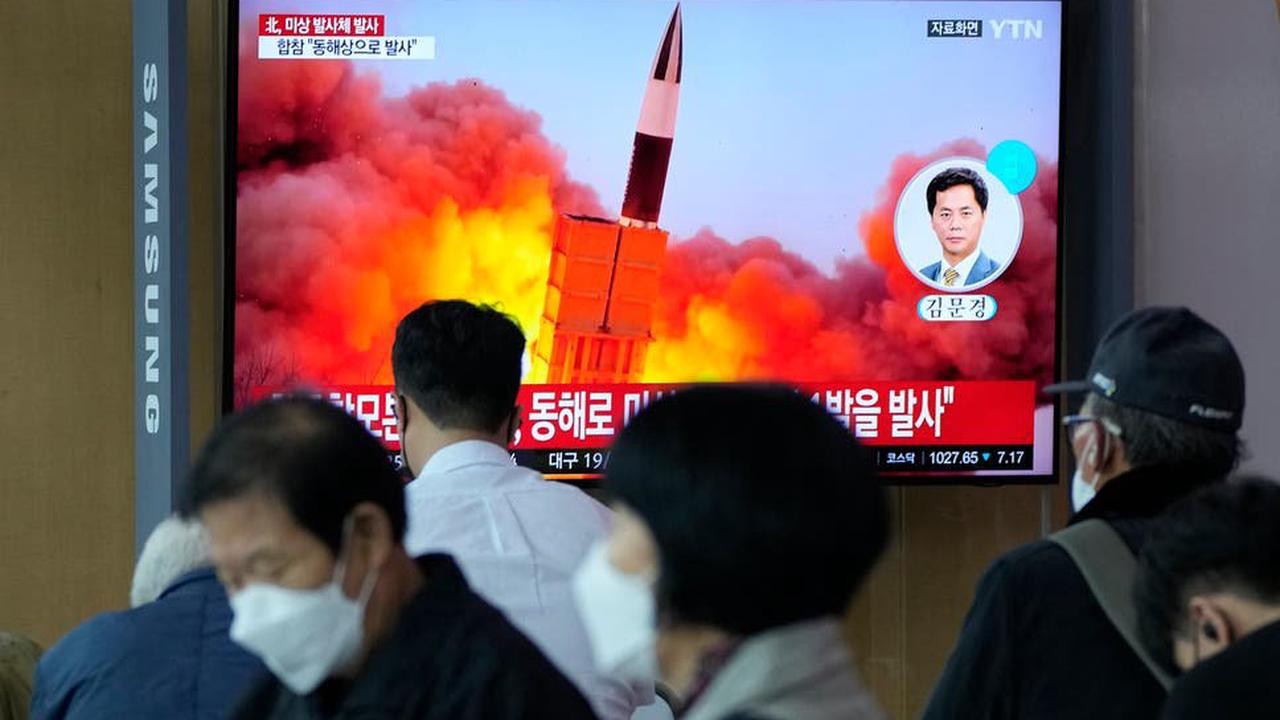 North Korea fires 'short-range missile' in latest weapons test as Pyongyang hits out at 'hostile' forces