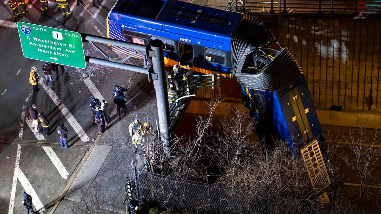 Bus driver in dramatic bridge plunge says it 'just took off'