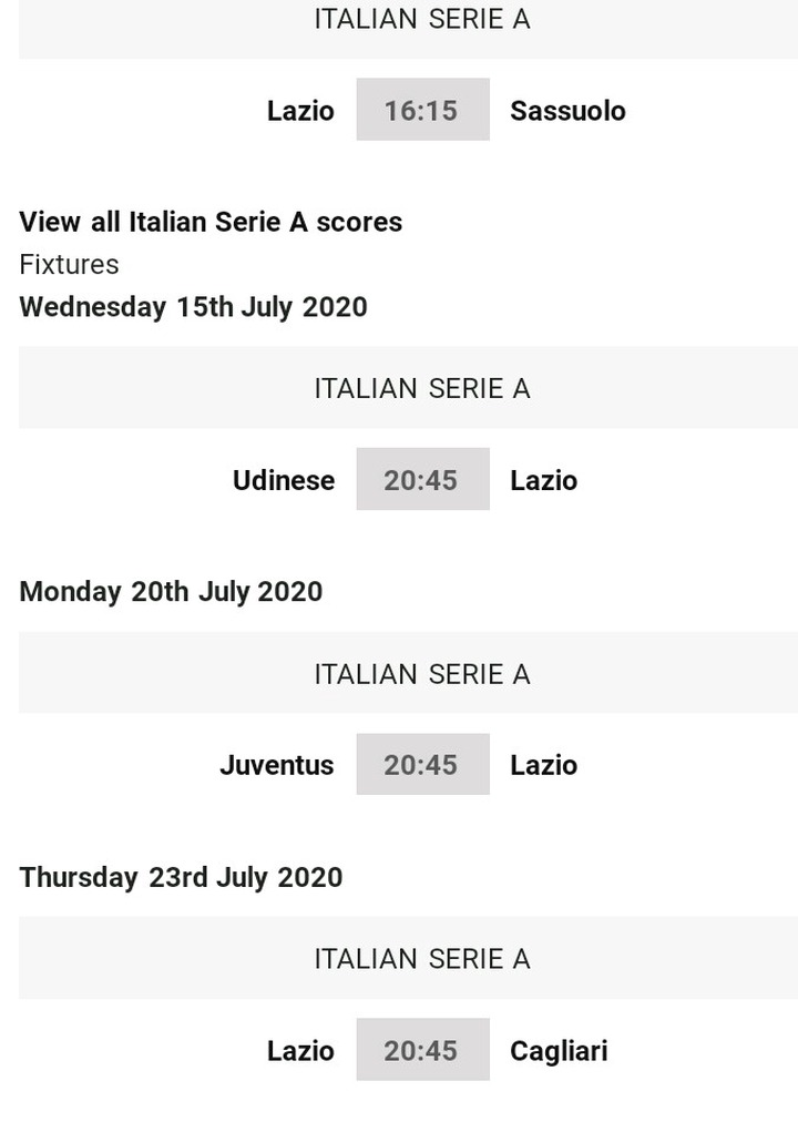 No Serie A Trophy For Juventus See How The Serie A Table Look Like And The Games Left Opera News