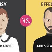 A Quick Summary of Differences Between Busy And Effective People