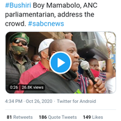 ANC parliamentarian told Bushiri's followers that he is in parliament because of them.