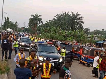 Pictures of Bayelsans as They Troop Out to Welcome Douye Diri Home After Winning Court Cases