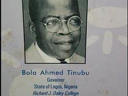Check Out Throwback Photos Of Asiwaju Bola Ahmed Tinubu
