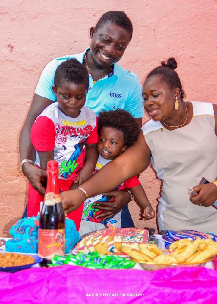 Meet The Beautiful Family Of Bill Asamoah With His Kids Looking Exactly Like Him - Photos 2
