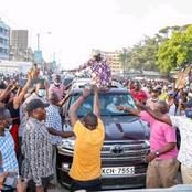 Photos Of Raila Odinga's Mega Rally In Kilifi Attended By A Huge Crowd(Photos)