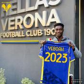 18 year old Phil Yeboah Features in The Serie A for Hellas Verona.