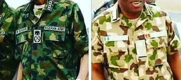 President Muhammadu Buhari and Goodluck Jonathan in Military Uniform, who rock it better? [Photos]