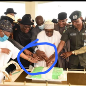 See reactions as Gov Wike organises a surprise birthday party for Prof. Gambari