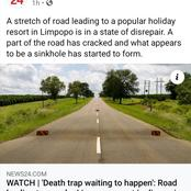 'A death trap waiting to happen' Road leading to popular Limpopo resort in disrepair